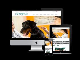 中英双语响应式宠物狗宠物医院诊所网站