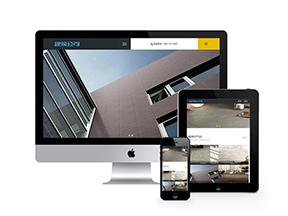 中英响应式建筑行业网站