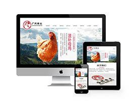 响应式家禽动物饲养类网站