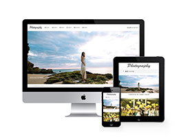 响应式摄影婚纱相册网站