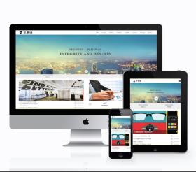 HTML5响应式蓝白色通用企业网站