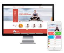 响应式塑身瑜伽馆瘦身培训类网站