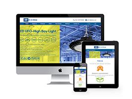 响应式外贸灯具网站